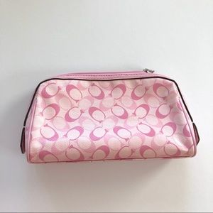 Coach pink small cosmetic bag